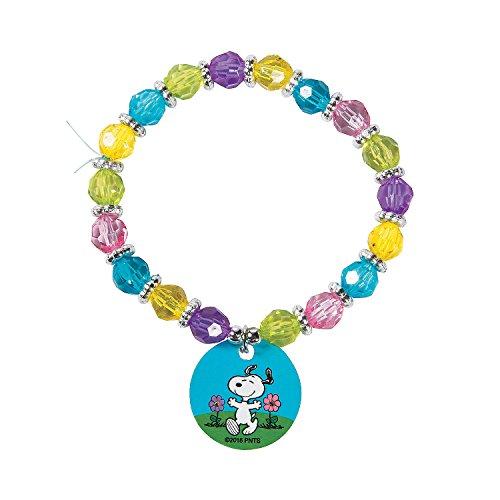 Oriental Trading Company Beaded Bracelets (Peanuts Spring Beaded Bracelet Craft Kit)