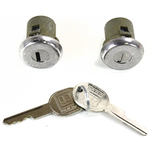 Door Lock Cylinder for Pontiac Delta 88 65-91 Chrome Set of 2 Keys Included (2 Caprice Chevy Door)