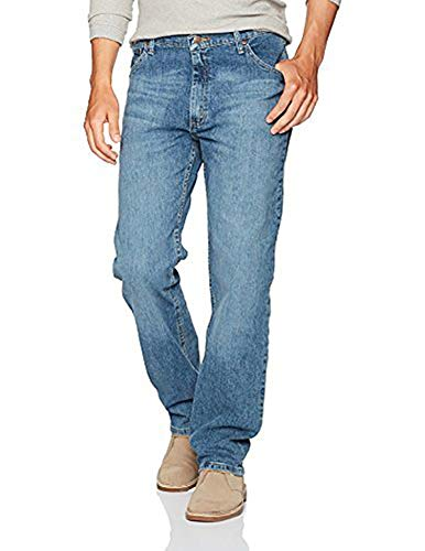 Cotton 5 Pocket Jean - Wrangler Authentics Men's Big and Tall Classic Regular Fit Jean, Vintage Blue Flex, 44X32