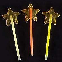 Baker Ross Varita Mágica de Estrella que Brillen en la Oscuridad (paquete de 3) perfecto para que los niños decoren