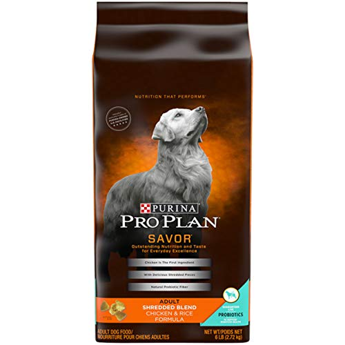 Purina Pro Plan With Probiotics Dry Dog Food; SAVOR Shredded Blend Chicken & Rice Formula - 6 lb. - Trim Feed Head