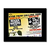 WHO - Hyde Park 2006 Matted Mini Poster - 21x13.5cm