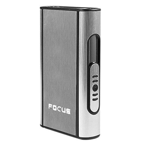 Pocket Aluminium ABS Automatic Ejection Cigarette Dispenser Case Box Holder, FOCUS - Silver