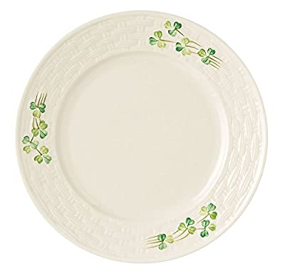 Belleek Group 0007 Shamrock Salad Plate, 8.8-Inch, White