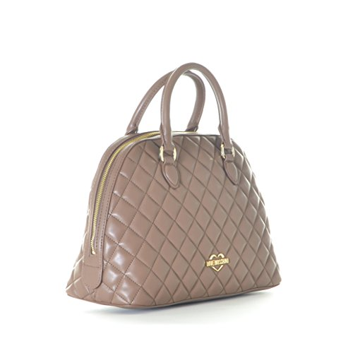 Trapuntata Cammello Black Moschino Women Pu Borsa Nappa Handbag Love FpI8RHI