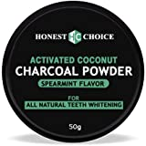 HONEST CHOICE Activated Coconut Organic Charcoal Teeth Whitening Powder 50gm I Enamel Safe Teeth Whitener For Sensitive I Naturally White teeth I Removes Tooth Stains and Bad Breath