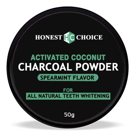 HONEST CHOICE charcoal powder I teeth whitening product I Organic activated coconut teeth whitener I proven to remove…