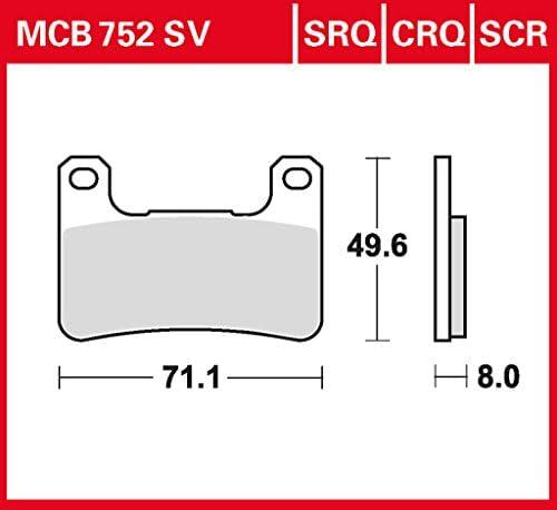 Bremsbelag Lucas Mcb752srq Sinter Track Rennsportbelag Supermoto Auto