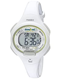 "Timex Women's T5K606 ""Ironman Traditional"" Sport Watch with White Resin Strap"