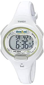 Timex Women's T5K606 Ironman Essential 10 Mid-Size White Resin Strap Watch