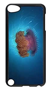 iPod Touch 5 Case, iPod 5 cases - Anti-Scratch Black Hard Back Case Cover for iPod 5 Jellyfish Under Sea Ultra Slim Fit Hard Case Cover For iPod Touch 5