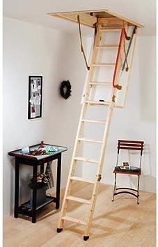 PRO-SPEC madera escalera para desván y trampilla [w11049x]: Amazon.es: Bricolaje y herramientas