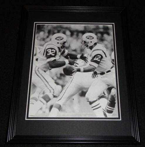 Joe Namath & Emerson Boozer Framed 11x14 Photo Display Jets