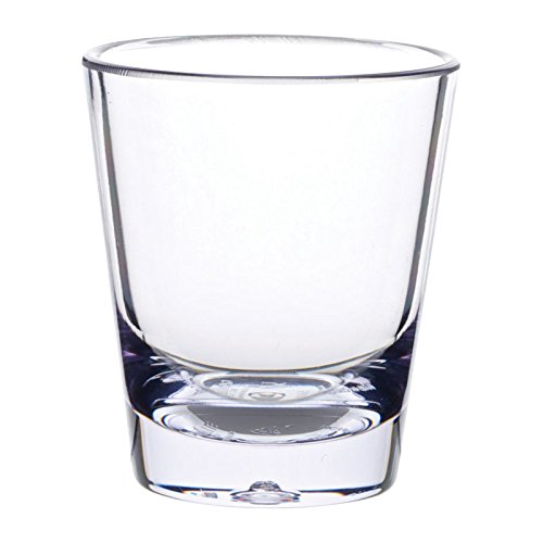 Plastic Bar Glasses Wholesale (Carlisle 560107 Alibi Heavy-Weight Plastic Shot Glass, 1.5 oz (Case of)