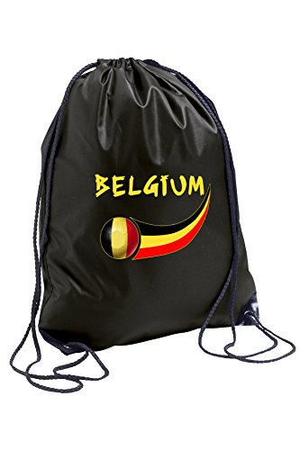 supportershop Unisex Belgien Gymbag, schwarz, one size
