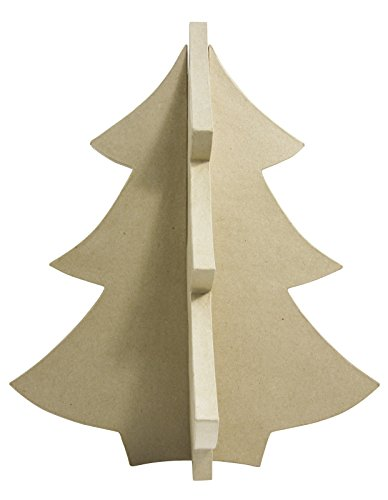 décopatch Decopatch 4 Facing Christmas Tree, Brown -