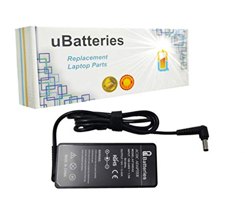UBatteries Compatible 65W AC Adapter Charger Replacement for Toshiba Part# PA3396U-1ACA PA3467U-1ACA PA3714C-1AC3 PA3714E-1AC3 PA3714U-1ACA PA3917U-1ACA PA3917U-1AC3 PA5178E-1AC3 PA5178U-1ACA Series