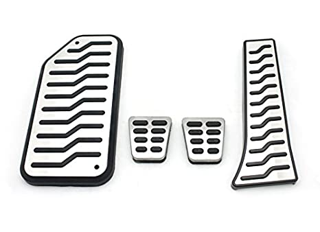 Manual Brake MT Metal Aluminum Fuel Sports Pedal Full Set Accel Footrest Fit: Hyundai 2010-2014 Genesis Coupe
