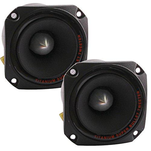 (Seismic Audio - Pair of Titanium Horn Bullet Tweeter Speakers PA/DJ Tweeters -)