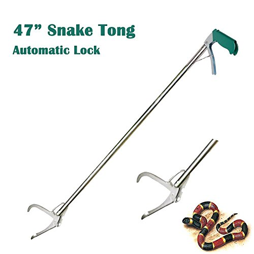 KONKY 47-inch Stainless Steel Professional Snake Catcher, Reptile Grabber Standard Snake Tong Stick Outdoor Adventure Handling Tool Trash Picker Zigzag Wide Jaw by KONKY (Image #8)