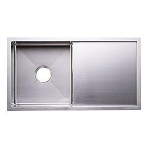 Bai 1231 33 Handmade Stainless Steel Kitchen Sink Single Bowl With Drainboard Under Mount 16 Gauge