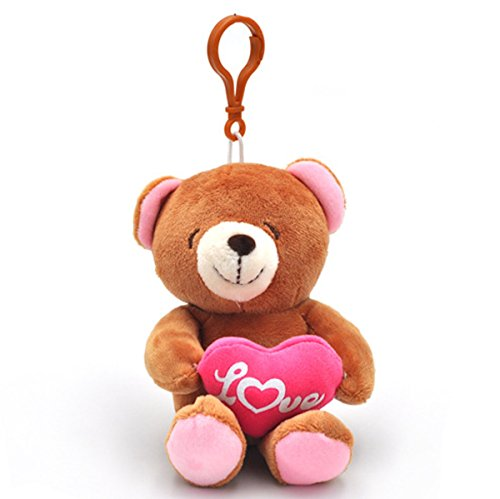 Smilesky Plush Teddy Bear Hugging Heart I Love You Toys Keychains Gifts 4