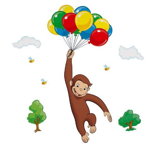 RoomMates Curious George Peel and Stick Giant Wall Decal ()