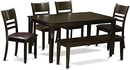 East West Furniture Kitchen Nook Table Set 6 Piece