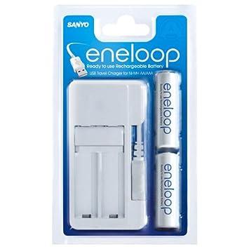 Sanyo Eneloop - Cargador de Pilas Recargables con Puerto USB ...