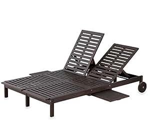 Eucalyptus double chaise lounge 2 color for Amazon chaise longue