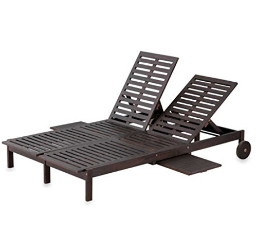 Eucalyptus Double Chaise Lounge - 2 Color Options (ESPRESSO) (2 Lounge Outdoor Chaise Person)