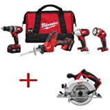 M18 18-Volt Lithium-Ion Cordless Combo Kit (4-Tool) with Free M18 Circular Saw