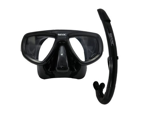 SEAC Set Bis Extreme Mask & Snorkel, Black by SEAC