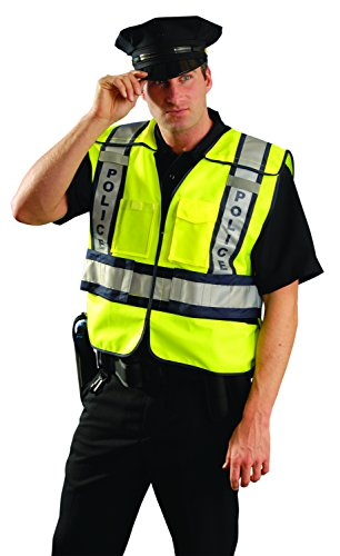 OccuNomix LUX-PSP-YM/L Public Safety Police Vest, Medium/Large, Yellow/Navy by OccuNomix (Image #2)