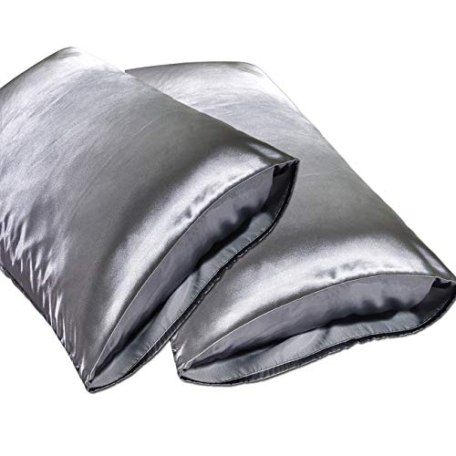 Check expert advices for silk pillowcase dark grey