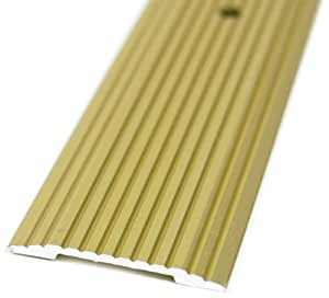 M-D Building Products 79129 Fluted 3/4-Inch by 72-Inch Seam Binder, Satin Brass