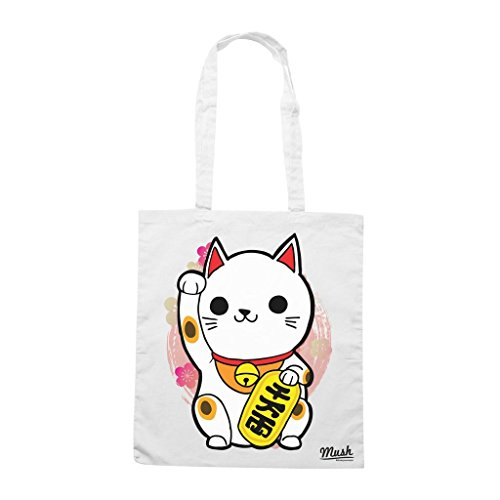 Borsa Maneki Neko Gatto Giappone - Bianca - Famosi by Mush Dress Your Style