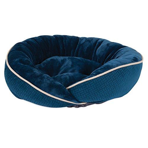 Aspen Pet 21 x 19 Luxe Wrap Pet Lounger, Blue