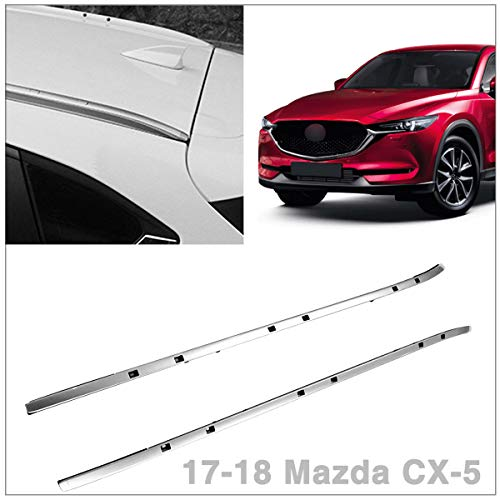 - Roof Rack Side Rails Bars Silver Pair Set Aluminum Fits 2017 2018 Mazda CX-5