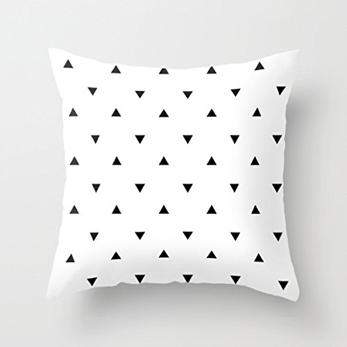 Decorative Square Pillow Case Cushion Cover 24X24 Inches Triangles Geometric Pattern Throw Pillow