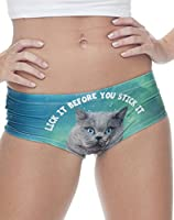 PantyHoes Cat Lovers 3D Print Panties Cute Sexy Naughty Cheeky Underwear For Cat Ladies | Lick It Stick It Kitty Kitten