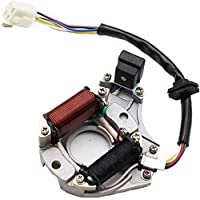 DOMINTY Wire Harness Wiring Loom CDI Ignition Coil Spark Plug Rebuild Kit for 50cc 70cc 90cc 110cc Electric Stator CDI Coil ATV Quad Bike Buggy Go Kart