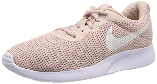Nike Women's Tanjun Running Shoes (9 B US, Particle Beige/Phantom/White)
