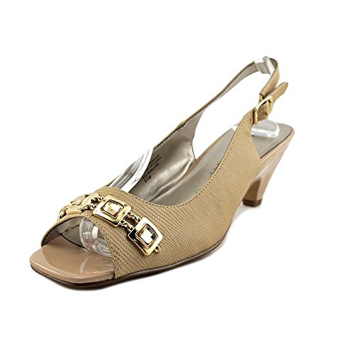 Karen Scott Analese Women Us 9.5 Tan Slingback Heel Smet