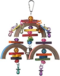 Super Bird Creations 9 by 7-Inch Binky Mobile Bird Toy, Medium