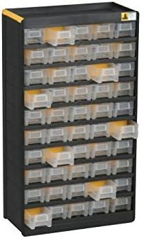 Cassettiere In Plastica Per Minuterie.Allit Cassettiera Per Minuteria Nero Giallo 465130