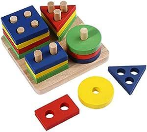 Kingstore لعبة مكعبات الفرز الهندسي - 3 سنوات فما فوق