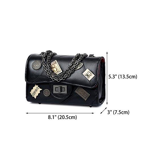 Bags Shoulder Handbags Leather Faux Cross Handle Bags Top Women's Black Body Bags qwT0Y6S