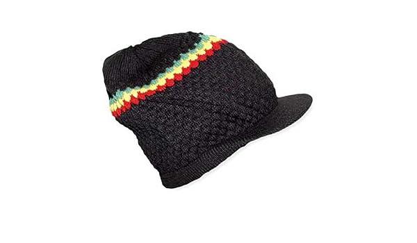 Gorro Estilo Bob Marley Rasta Reggae Gorro Largo con Pico Bolsa sellada Slouch Baggie Rastafarian