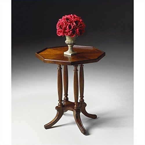 Octagon Accent Table - Plantation Cherry Stained Finish